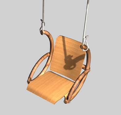 suspended plywood molded chair